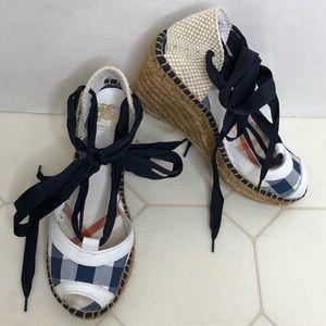 Authentic Burberry Espadrilles Sandals, 7.5/ 38